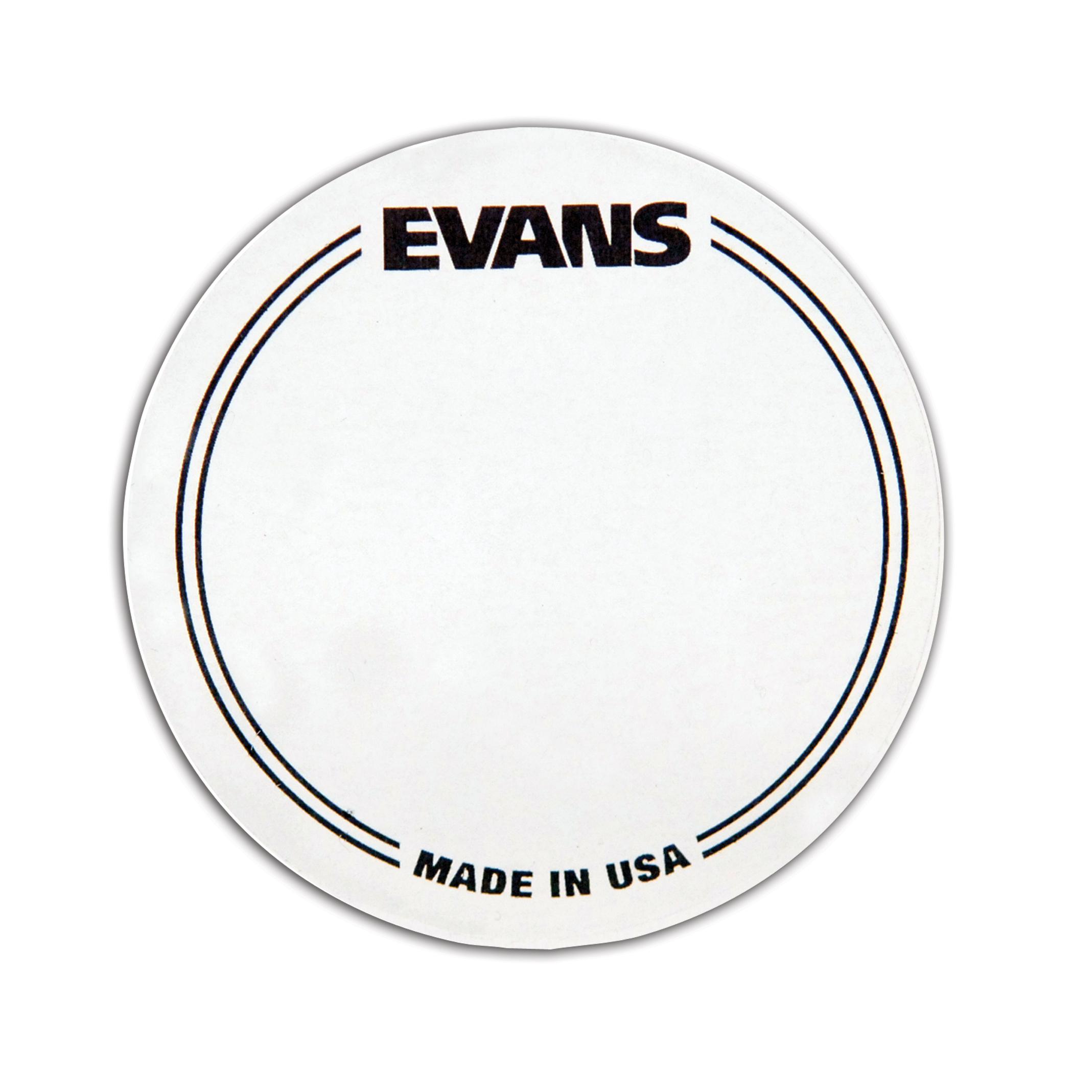 Evans EQ Single Pedal Patch, Clear Plastic