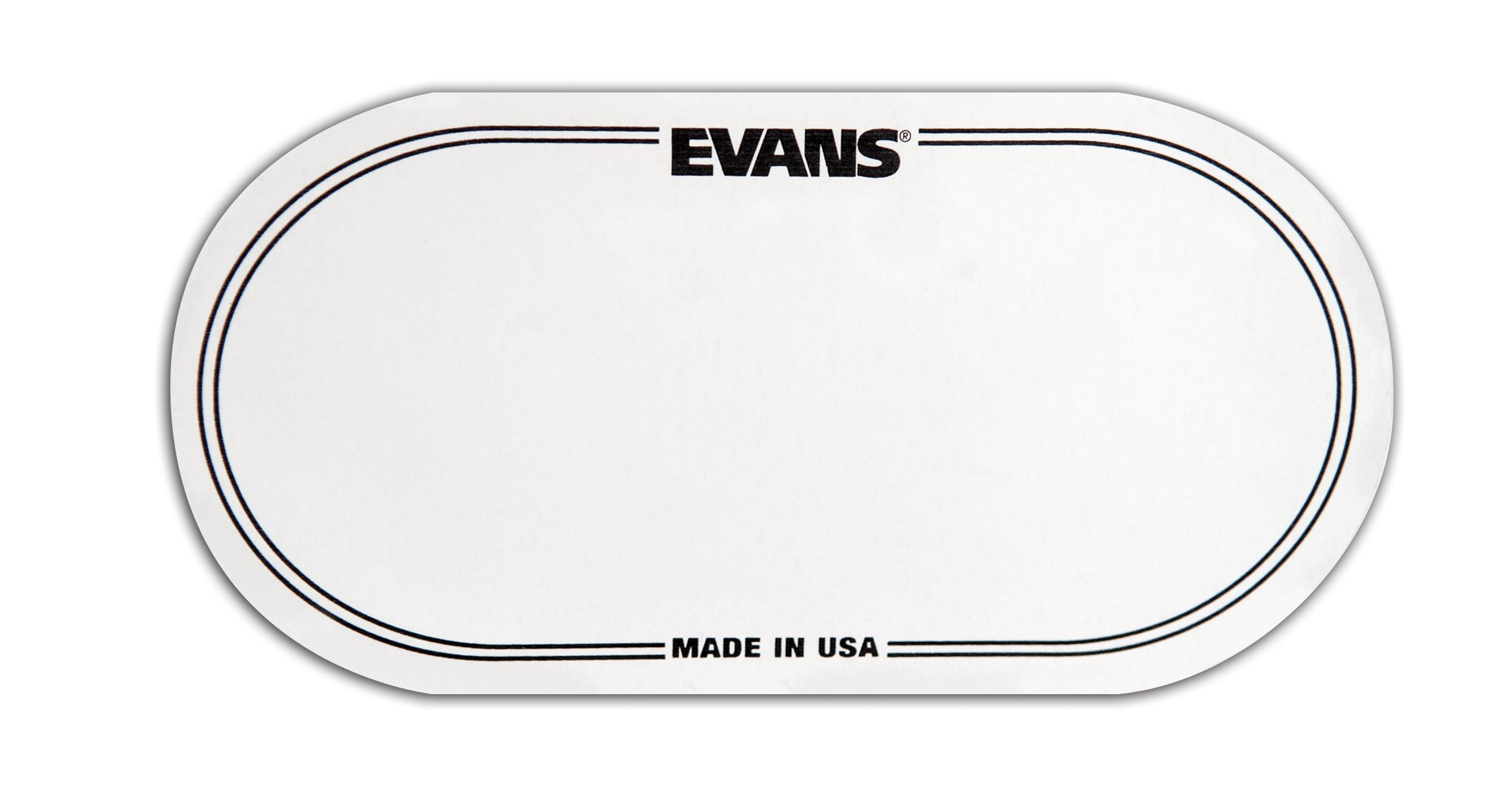 Evans EQ Double Pedal Patch, Clear Plastic