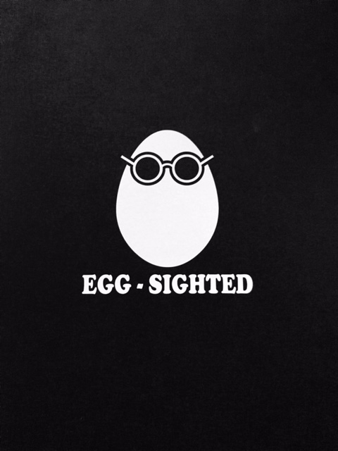 Egg-Sighted Sticker
