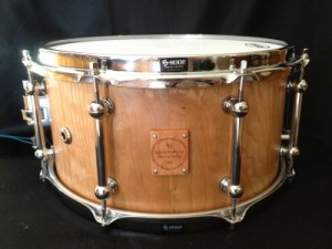 "008 - 7""x13"" Cherry Stave Snare"