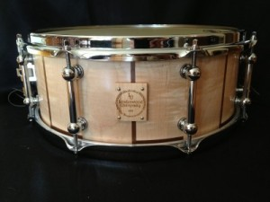 "009 - 5.75""x14"" Maple & Black Walnut Concert Stave Snare"