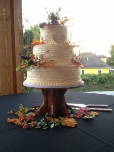 Red Oak Tree Cake Stand