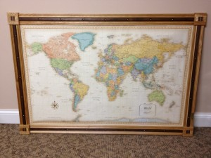 World Map Frame