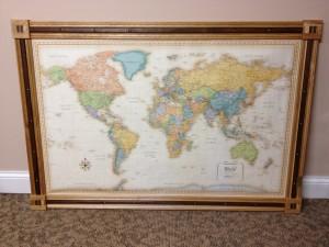 World Map Frame